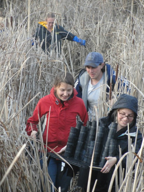 Parker Lab students in the field